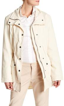 Velvet by Graham & Spencer Arlene Linen Blend Funnel Collar Jacket