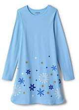 Lands' End Girls Plus Graphic Aline Dress-Sequin Stars
