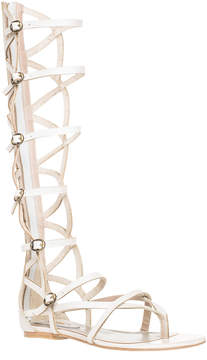 Max Studio Valiant - Waxed Leather Gladiator Knee High Sandals
