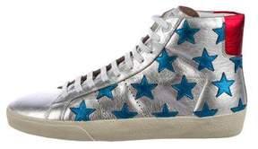 Saint Laurent SL/06 Star-Accented Sneakers
