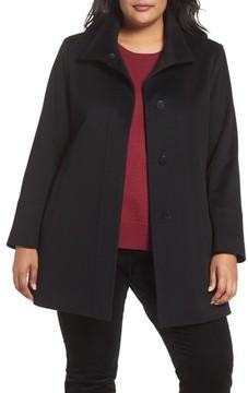 Fleurette Plus Size Women's Wool Car Coat