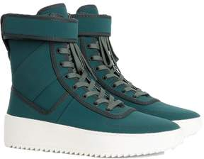 Fear Of God Dark green military high top sneakers
