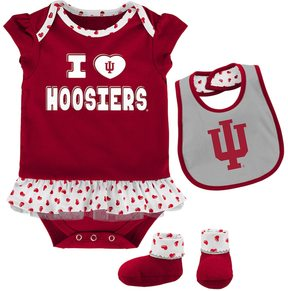 NCAA Baby Indiana Hoosiers Team Love Bodysuit Set