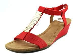Alfani Vacay Open Toe Synthetic Wedge Sandal