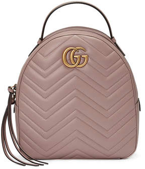 Gucci GG Marmont quilted leather backpack - NUDE & NEUTRALS - STYLE