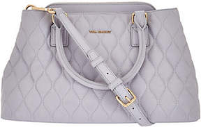 Vera Bradley As Is Quilted Leather Satchel - Emma - ONE COLOR - STYLE