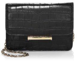Jason Wu Diane Croc Embossed Leather Clutch