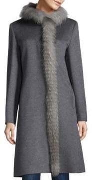 Cinzia Rocca Fox Fur Wool Coat