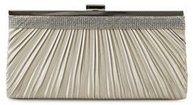 Jessica Mcclintock Laura Pleated Rhinestone Satin Clutch