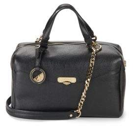 Versace Leather Top-Handle Satchel