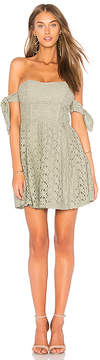 J.o.a. Off The Shoulder Sleeve Tie Lace Dress