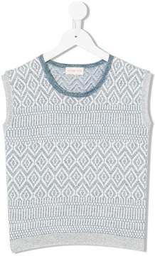 Simple knitted vest