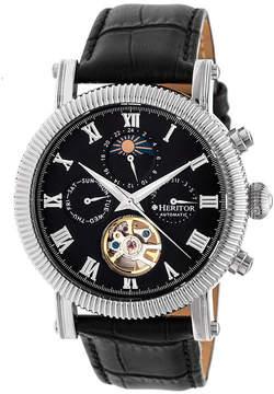 Heritor Winston Mens Black Strap Watch-Herhr5202
