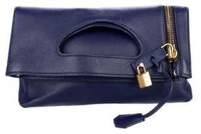Tom Ford Leather Alix Fold-Over Bag