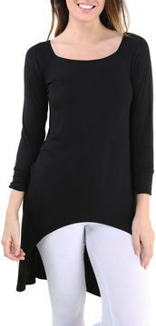 24/7 Comfort Apparel High-Low Extra Long Tunic Top