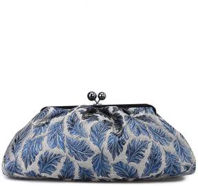 Max Mara Blue And Silver Jacquard Pasticcino Maxi Bag