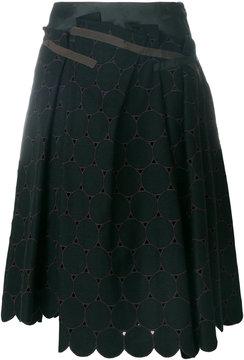Kolor flared scalloped skirt