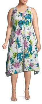 Context Plus Floral Print Sleeveless Dress