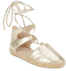 Kenneth Cole Bara Embossed Lace-Up Espadrilles