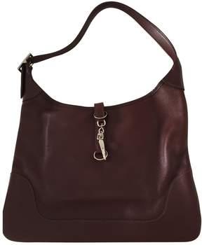 Hermes Trim leather handbag - BURGUNDY - STYLE