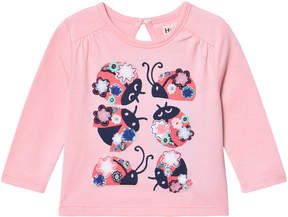 Hatley Pink Ladybird Dance Long Sleeve Mini Tee