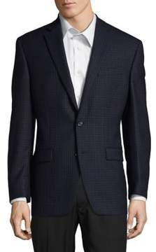 Lauren Ralph Lauren Check Windowpane Wool Suit Jacket