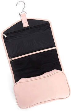 Royce Leather Light Pink Leather Hanging Toiletry Bag