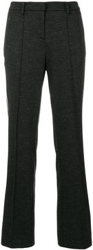 Cambio stripe panelled trousers