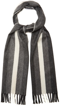 Neil Barrett Striped cashmere scarf
