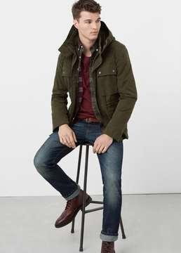 Mango Outlet Cotton nylon-blend field jacket