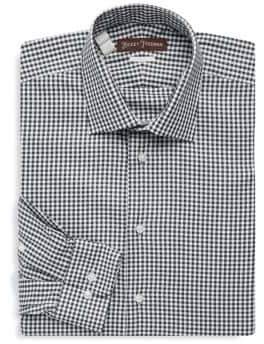 Hickey Freeman Gingham Cotton Dress Shirt