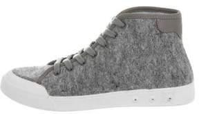 Rag & Bone Flannel High-Top Sneakers