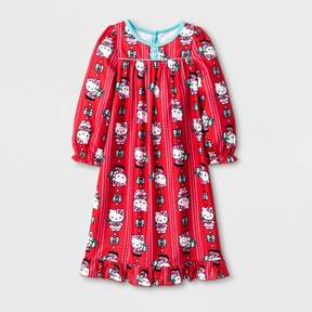 Hello Kitty Toddler Girls' Long Sleeve Nightgown - Red