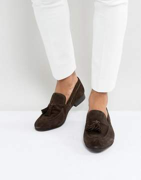 Dune Tassel Loafers Brown Suede