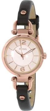 Fossil Women's Georgia ES3862 Grey Leather Quartz Fashion Watch