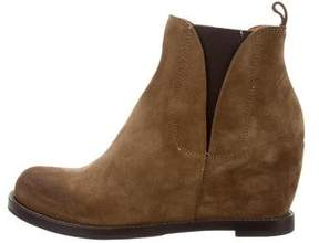 Buttero Suede Round-Toe Booties w/ Tags