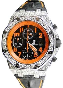 Audemars Piguet Royal Oak Offshore Volcano 12 Ct Diamond Mens Watch