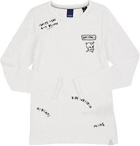 Scotch Shrunk Embroidered Cotton T-Shirt