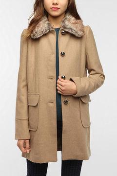 Jessica Alba S Sandro Olive Fur Coat 2013 Popsugar Fashion