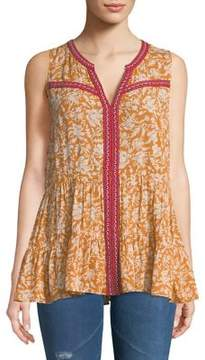 Democracy Double Tiered Floral Sleeveless Top