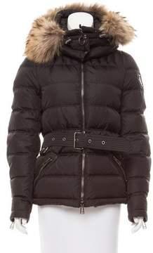Belstaff Fur-Trimmed Down Jacket