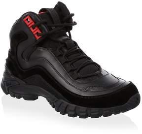 Versace Men's Leather Sneaker Boots