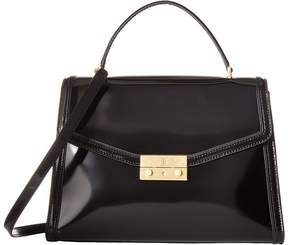 Tory Burch Juliette Top-Handle Satchel Satchel Handbags - BLACK - STYLE