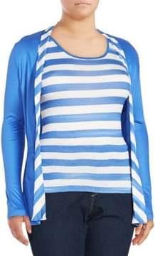 Basler Long-Sleeve Striped Top