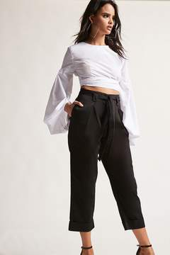 Forever 21 High-Rise Paperbag Trousers