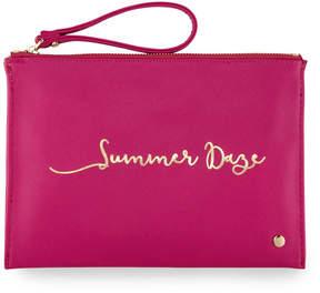 Neiman Marcus Printed Wristlet Pouch Clutch Bag - Summer Daze