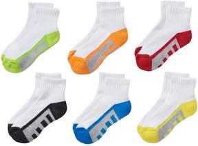 Tek Gear Boys 6-pack Quarter Performance Socks