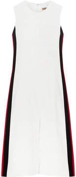 Burberry Striped Crepe Midi Dress - Ivory