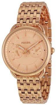 Fossil Tailor Multifunction Rose Dial Ladies Watch