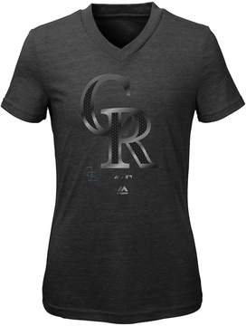Majestic Girls 7-16 Colorado Rockies Slider Tee
